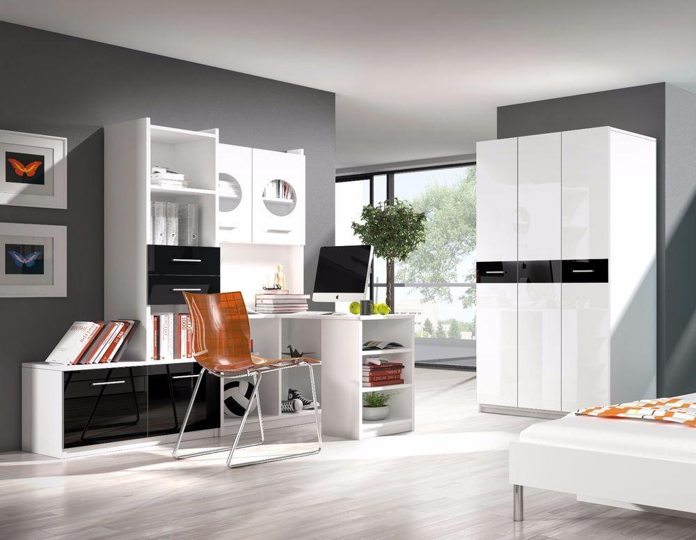 wall unit set childrens bedroom furniture desk shelves