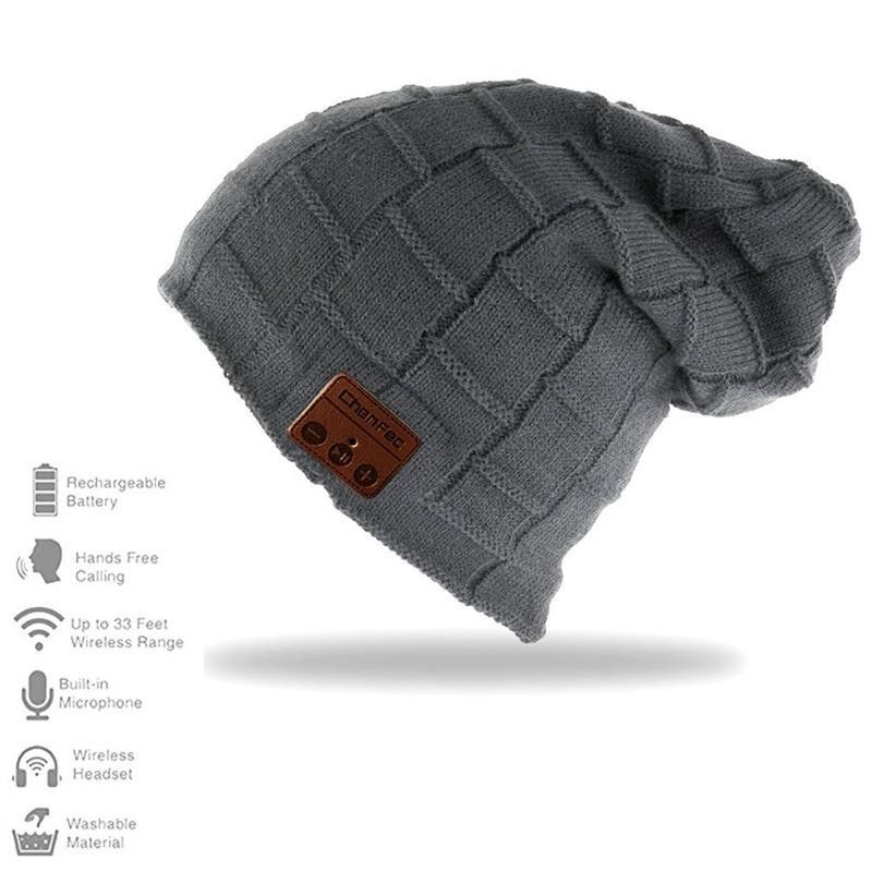 fd871a59aff Wireless Bluetooth Beanie Hat Cap With Speaker Mic