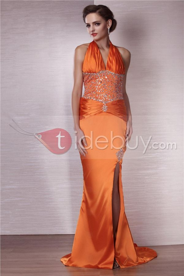 Miriama's Vestido de Noche con Escote Halter (Envío Gratuito)