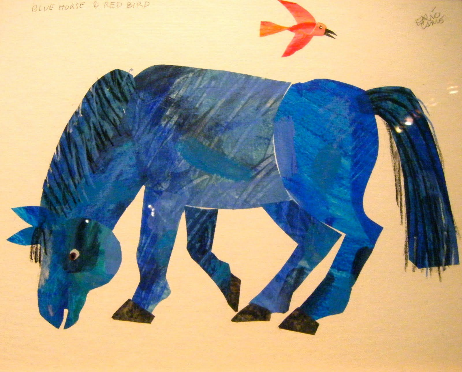 Eric Carle Blue horse, Horse coloring pages, Eric carle