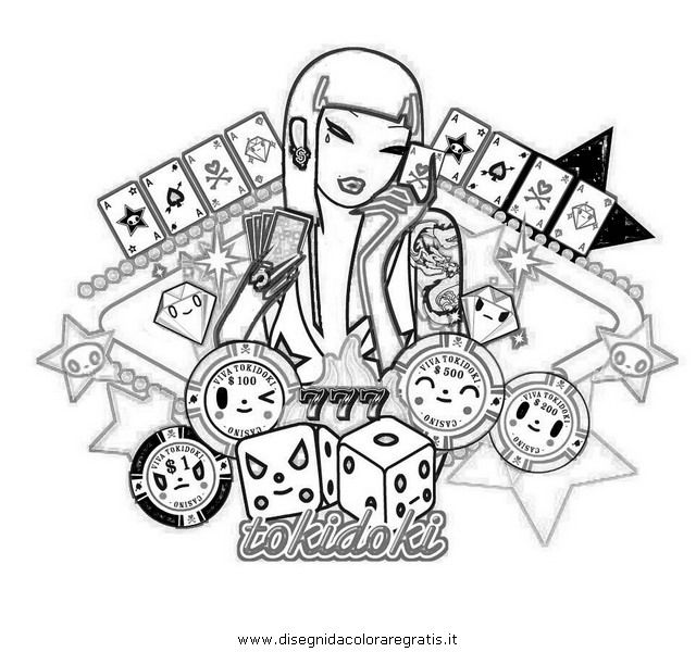 tokidoki coloring pages tokidoki colouring pages page - Tokidoki Donutella Coloring Pages