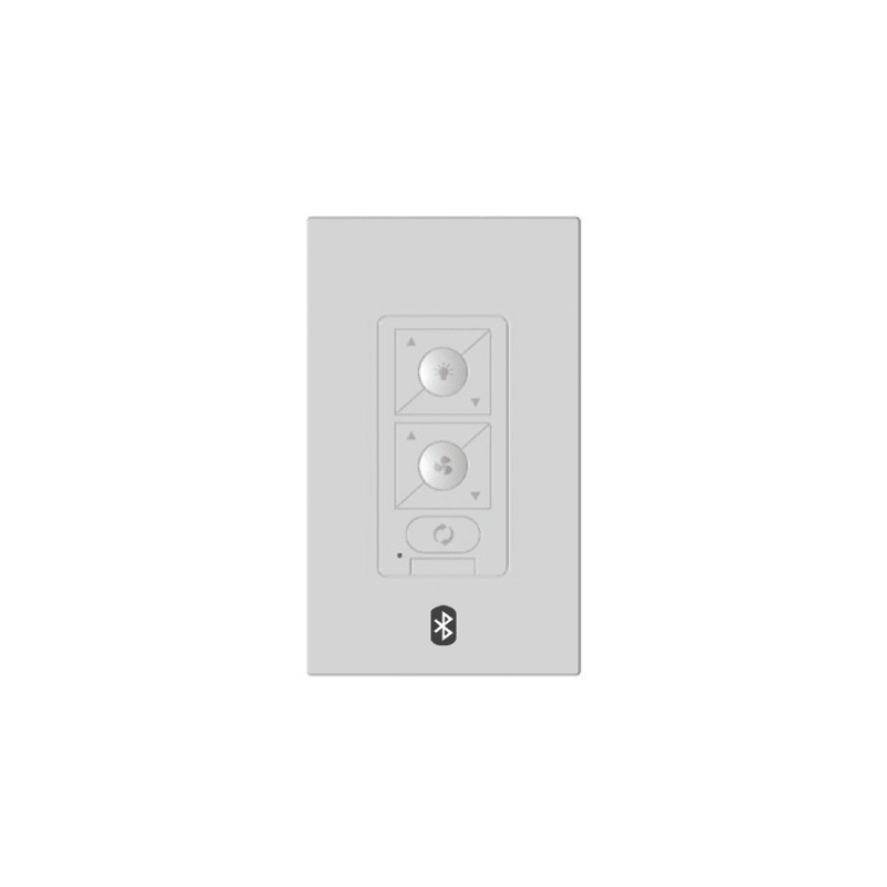 WAC Lighting WC20 6-Speed Bluetooth Ceiling Fan Wall Control with Single Pole Wa White Ceiling Fan Accessories Controls Wall Controls