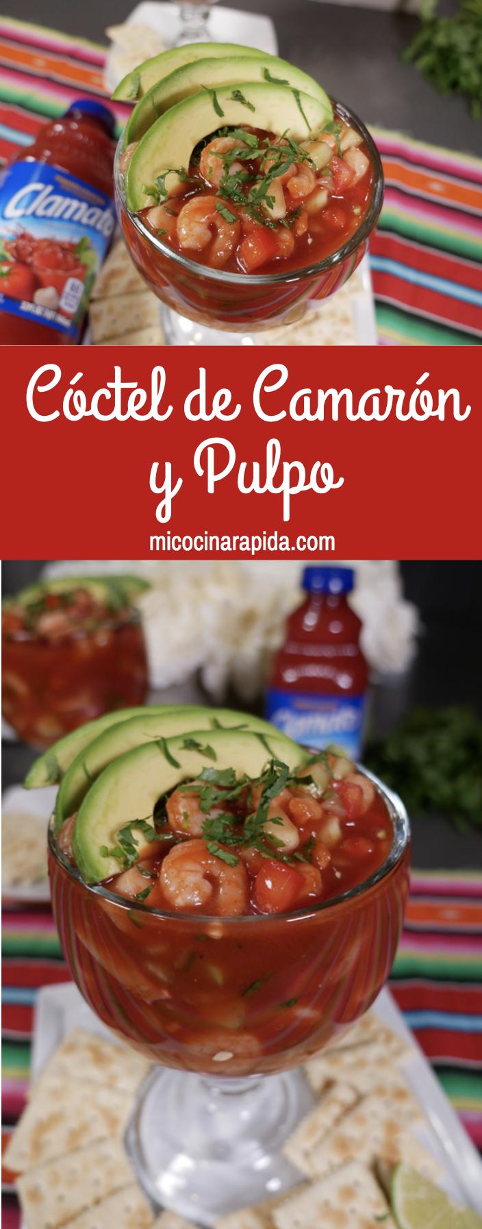 Coctel De Camaron Y Pulpo Receta Coctel De Camaron Recetas De Comida Mexicana Coctel De Camarones Receta