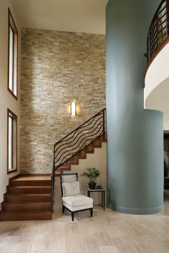 Stacked Stone Interior Wall Design, Pictures, Remodel, Decor and ...