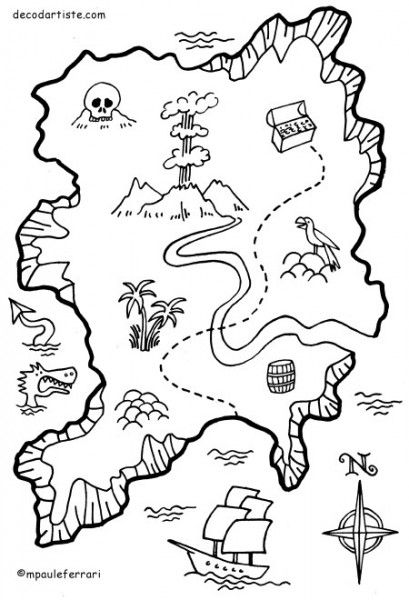 Image Du Blog Nounouduveron Centerblog Net Carte Au Tresor Artisanat Pirate Cartes De Pirates