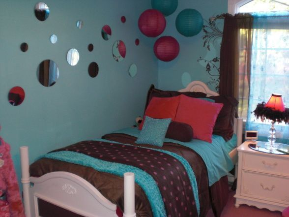 Re Post Teal Tween Room   Circle Mirrors On The Wall