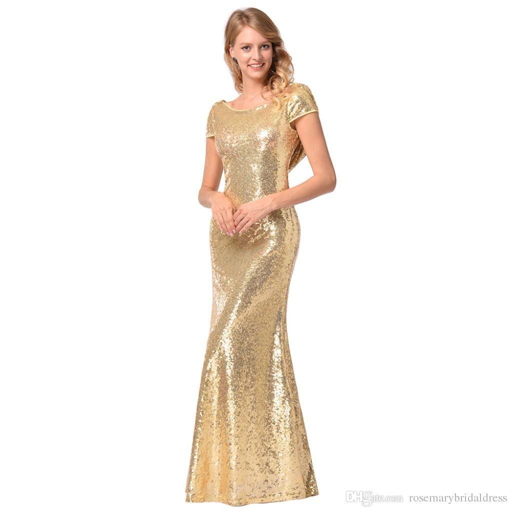 Sequined Mermaid Prom Dresses 2018 Golden Black Girl Long/Short ...