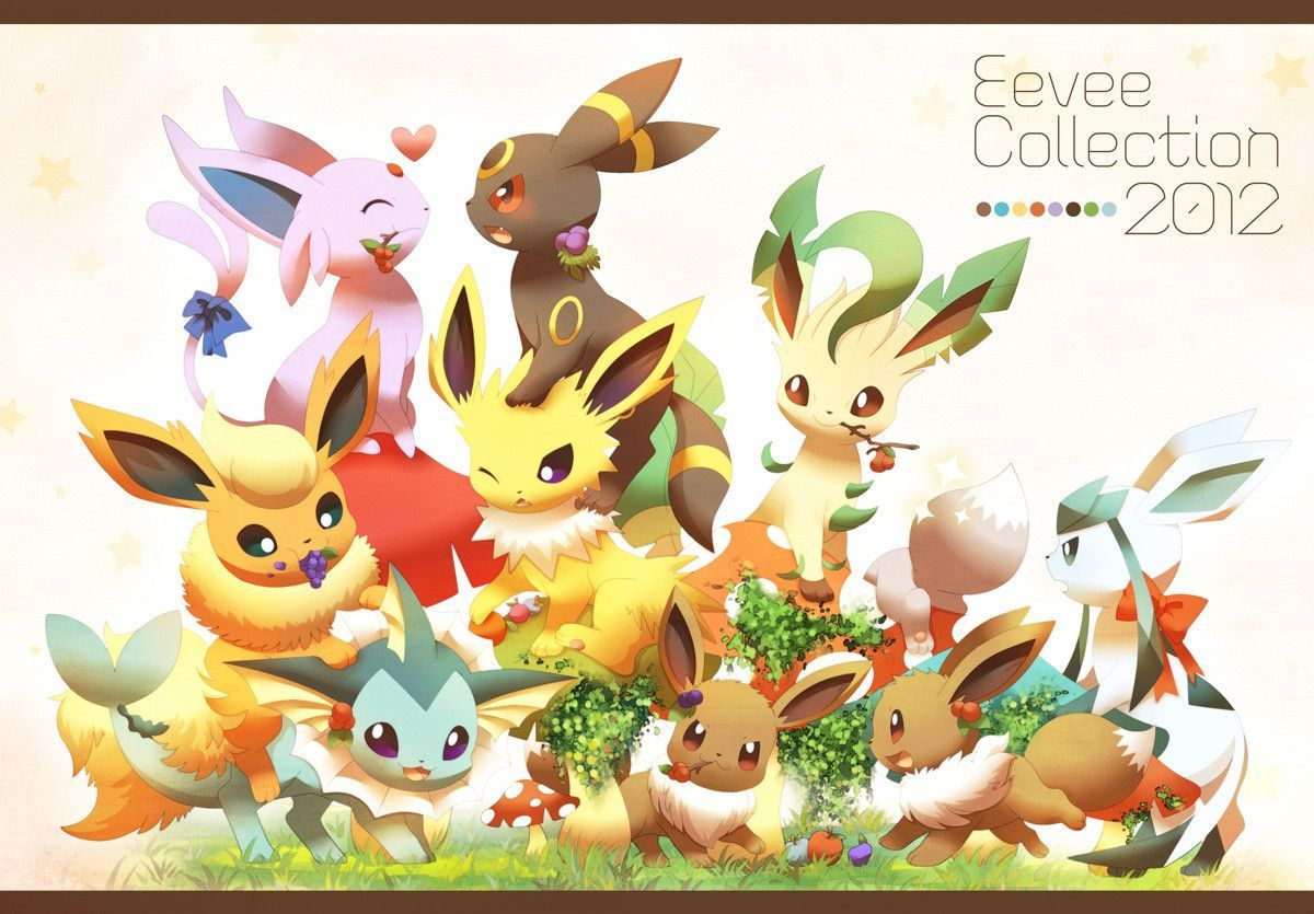 Eevee Evolutions Wallpapers Eevee Evolutions Pokemon Eevee Wallpaper