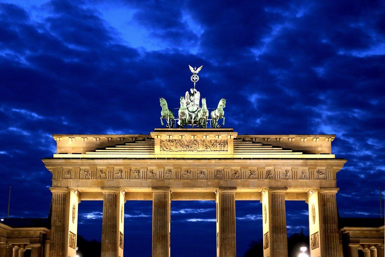 Blue Hour Twilight Sky Berlin