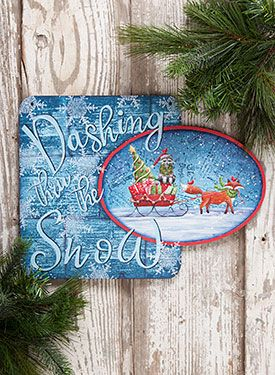 Square Oval Plaque Christmas Painted Items Pinterest