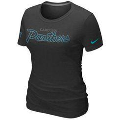 Nike Carolina Panthers Women's Script Tri-Blend T-Shirt - Black