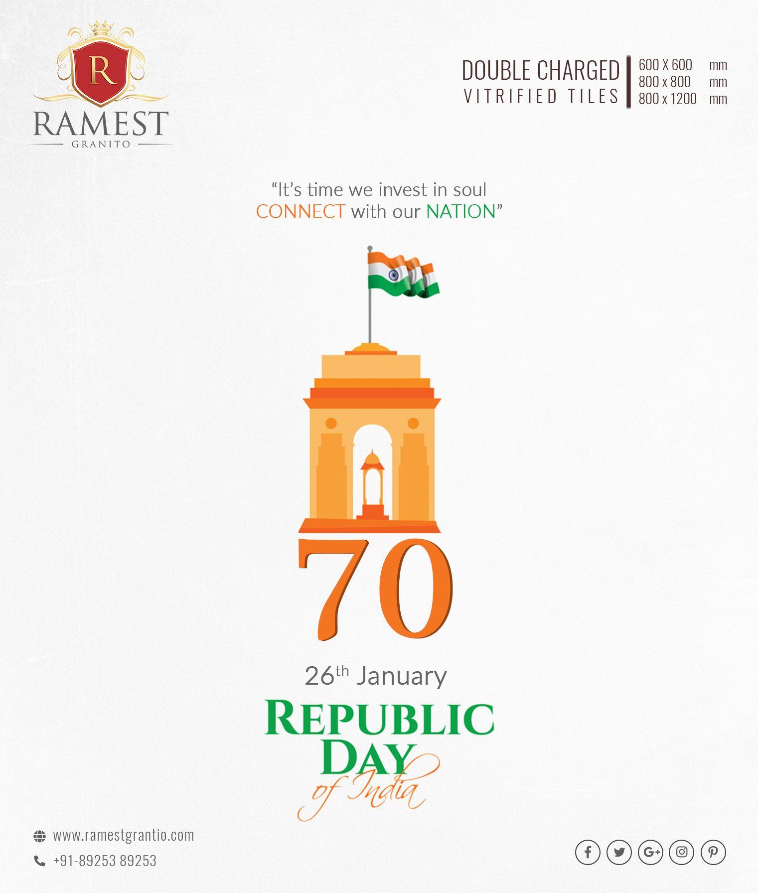 Ramest Granito Wishes You Happy Republic Day Happyrepublicday 26thjanuary India Republic Republicday Republic Day Republic Day Wishes Republic Day India