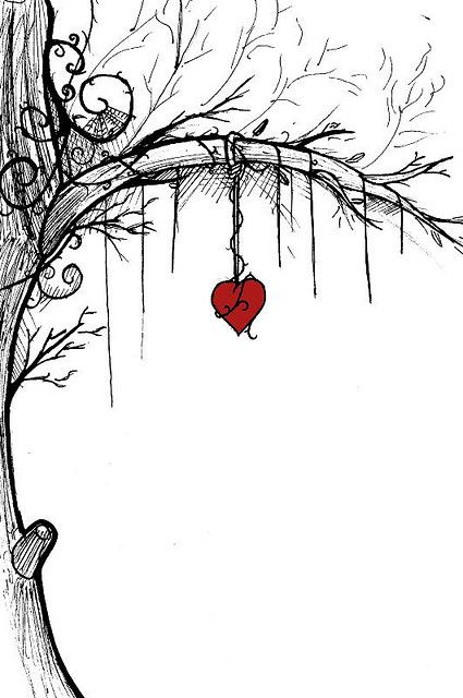 Love Tree Unfinished En 2019 Dibujos