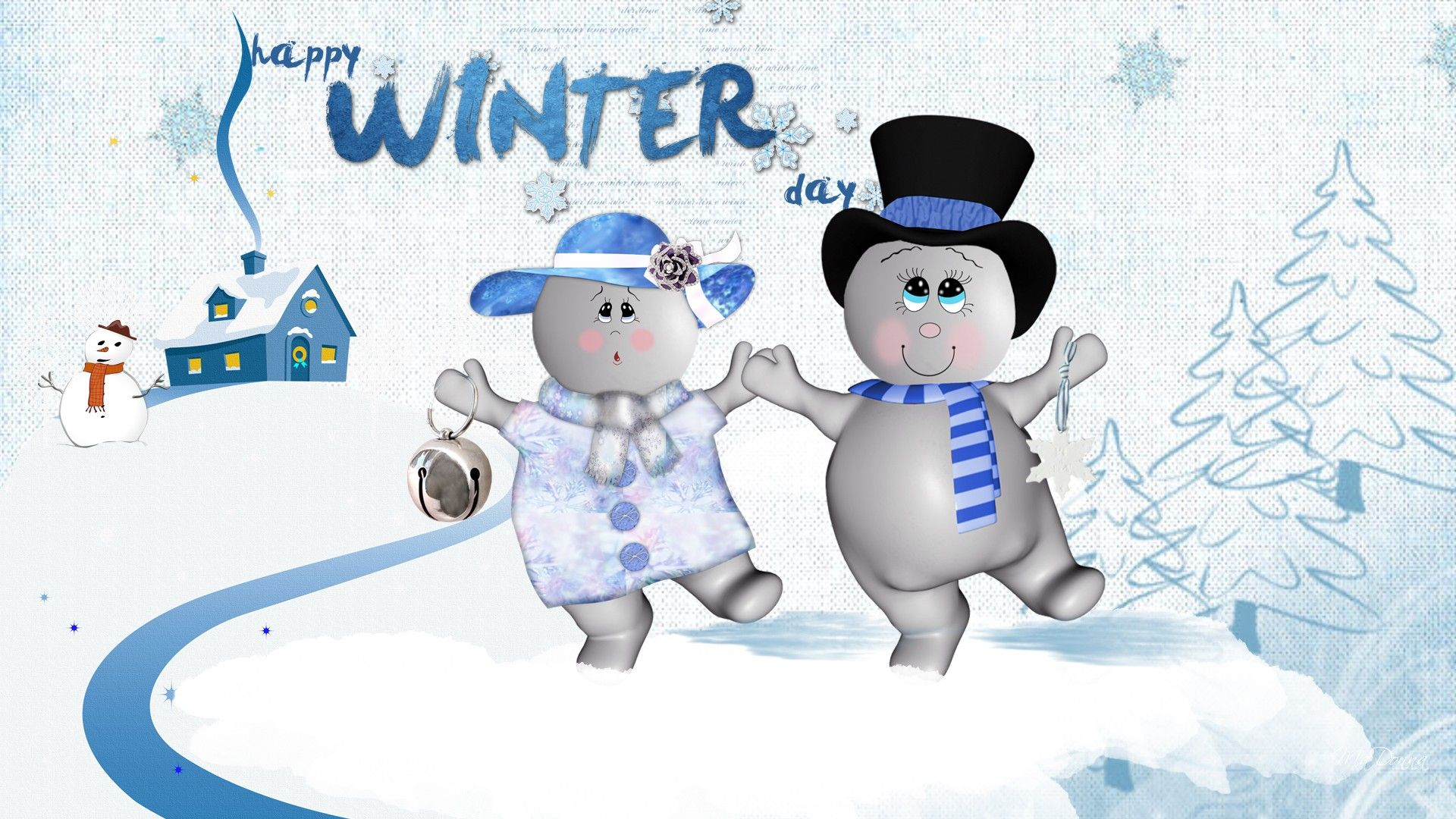 Hd Dancing Snowmen Wallpaper Download Free 88445 Snowman Wallpaper Free Winter Wallpaper Winter Wallpaper