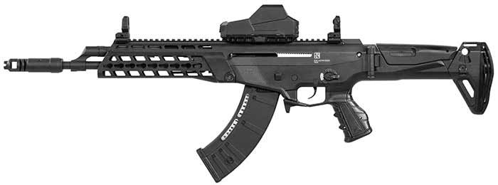 Kalashnikov USA announced the introduction of the AK Alpha rifle to the US market. The new gun uses an AK-style action, but upgrades the platform to provid