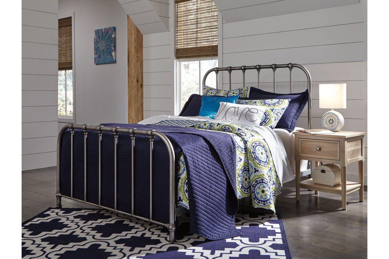 Nashburg Queen Metal Bed Ashley Furniture HomeStore in