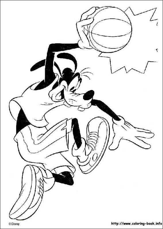 Goofy coloring picture | Disney Coloring Pages | Pinterest