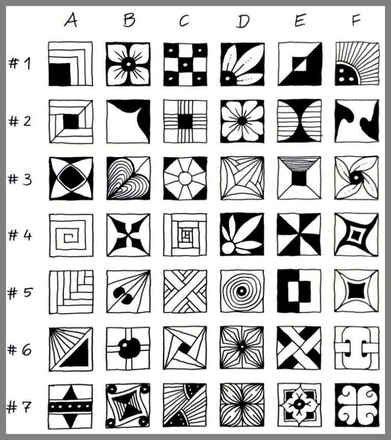 Reticula Doodle Patterns Zentangle Pattern Art