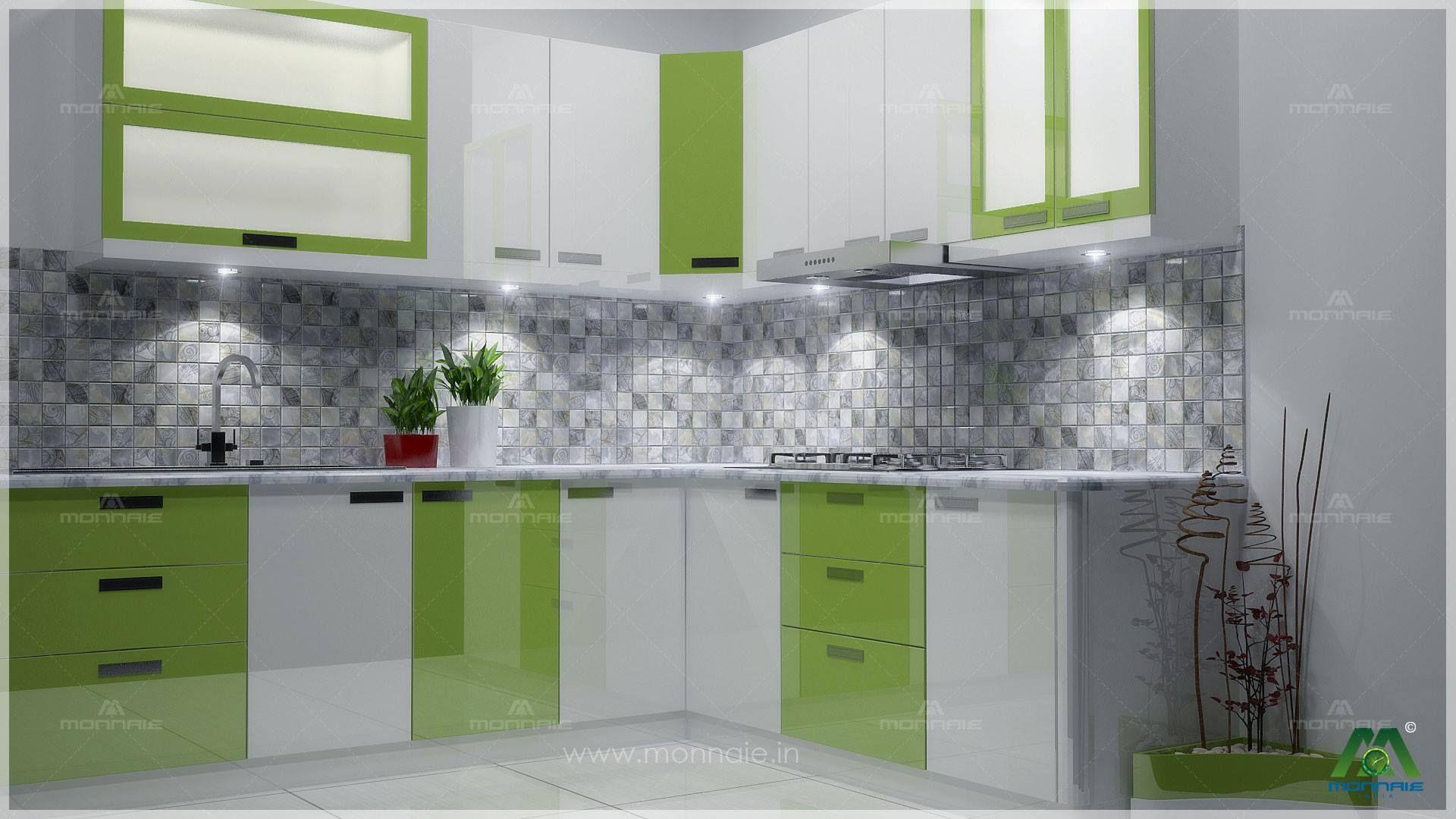 Standard Modular Kitchens Interior Design By Monnaie Architects Urbanclaphomes Urbanclap Interior Design Kitchen L Shaped Modular Kitchen Green Kitchen Paint