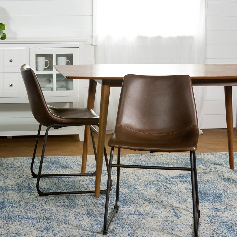 Aurik Upholstered Side Chair Faux Leather Dining Chairs Leather Dining Chairs Dining Chairs