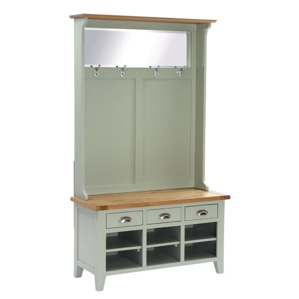 Hall Tidy With Bench 3 Drw Shoe Storage 4 Hook Coat Rack And