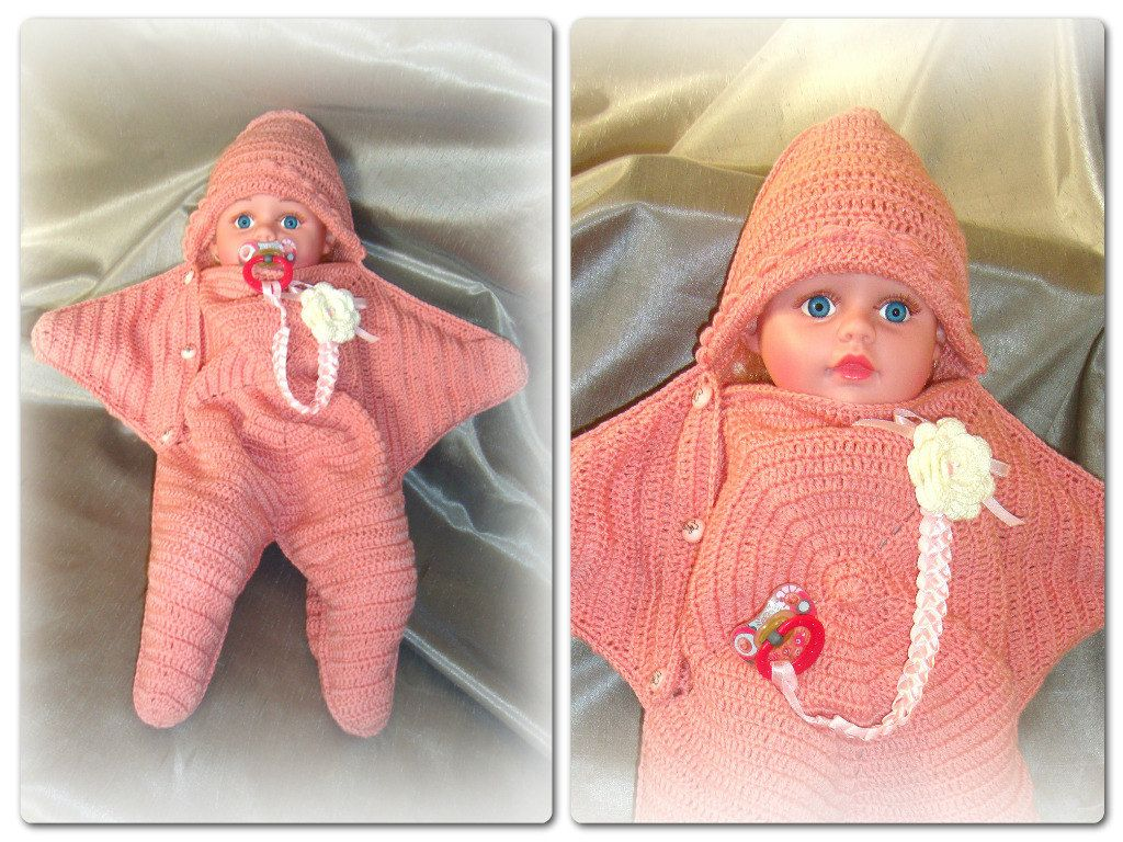 Roller skating babies - Cocoon Starfish Baby Blanket Newborn 6 9 Months Gift Ideas All For Babies Wool 100