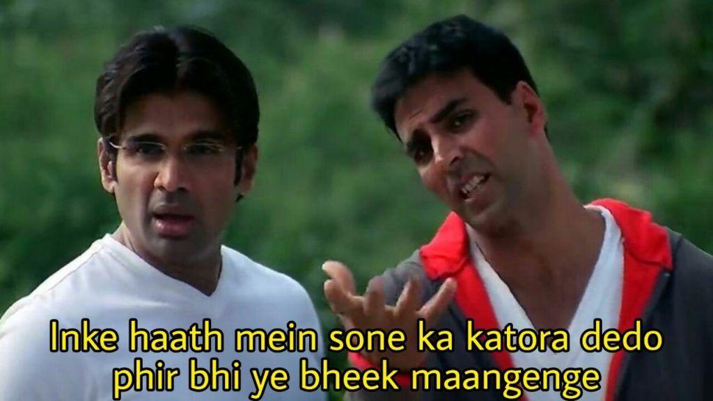Hera Pheri Meme Templates Indian Meme Templates In 2020 Meme Template Funny Dialogues Memes
