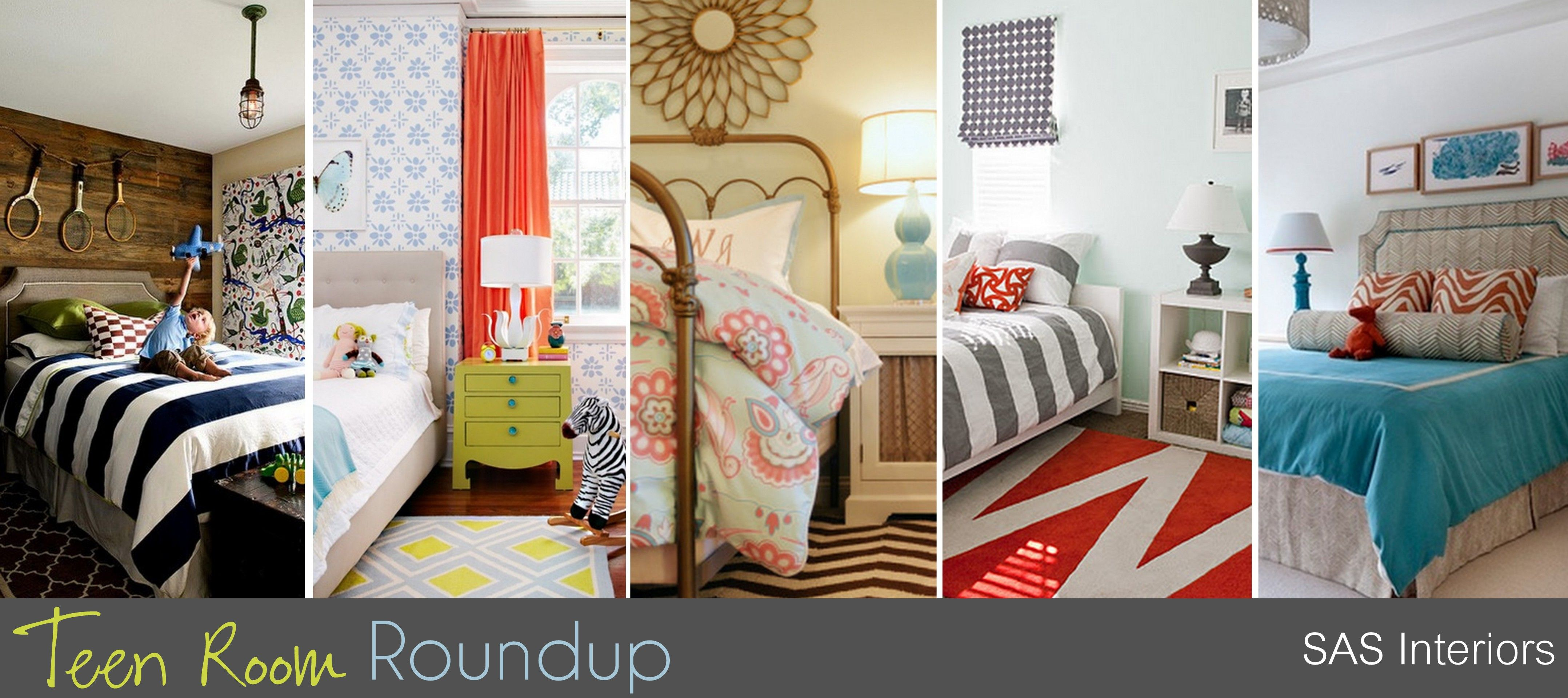 Teen Room Roundup - Inspiration and ideas for designing a Teen's Bedroom by @Jenna_Burger, www.sasinteriors.net