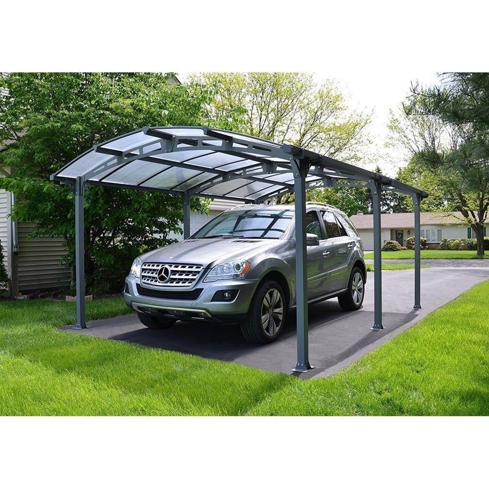Carport Aluminium Et Polycarbonat Palram Arcadia 5000 Pour 1 Voiture 16 31 M En 2020 Carport Aluminium Auvent Ports De Voiture