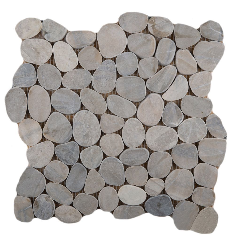 14 Emser Tile Natural Stone 12 X 12 Venetian Flat Pebble Mosaic In Silver I Love This For A Shower Floor Emser Stone Mosaic Tile Emser Tile