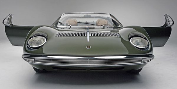 Lamborghini Bertone Miura Roadster Racing Green Vintage Italian