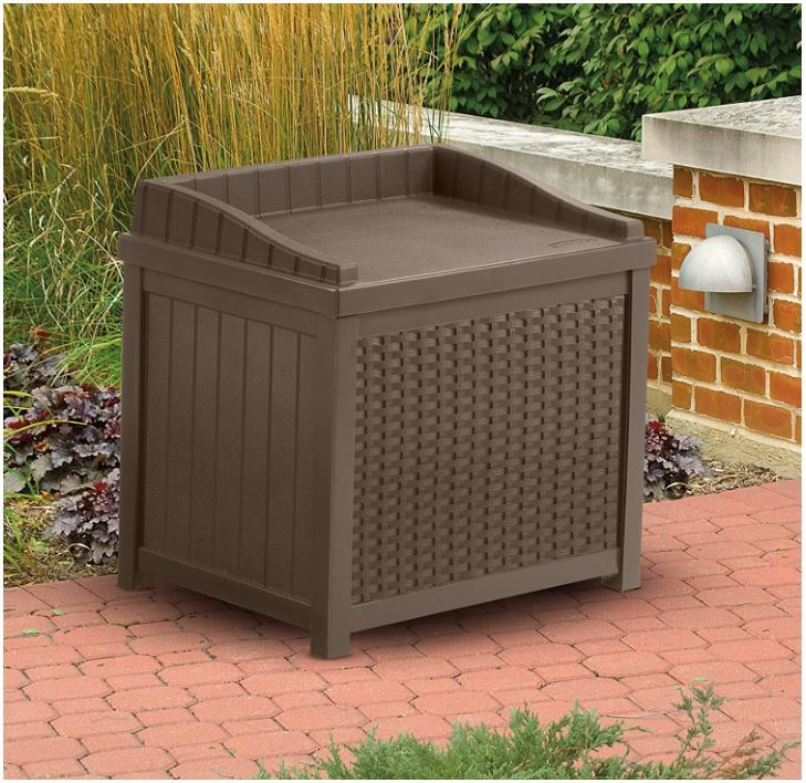 Small Deck Box Seat Offering Triple Services Storage Seating