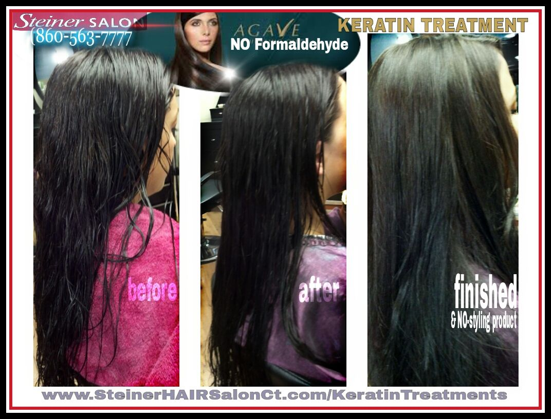Agave Keratin Treatment No Formaldehyde Wash Color Your Hair Same