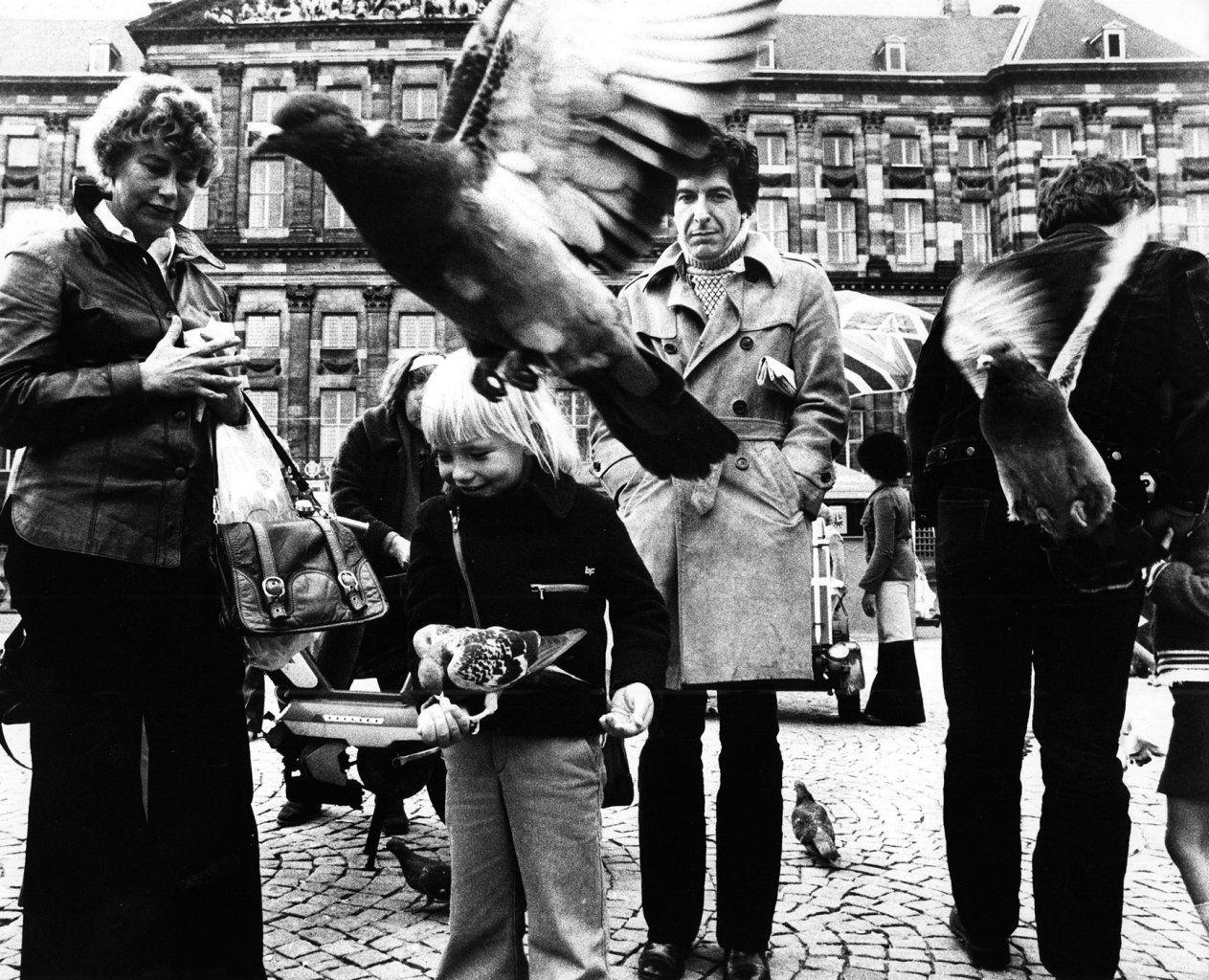 Leonard Cohen in Amsterdam in April 1972.
