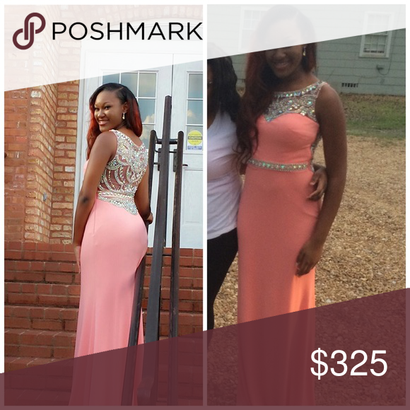 Salmon Pink Prom Dress Size 6 , only worn once, perfect condition Dresses Prom