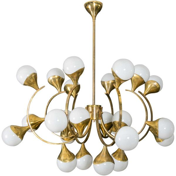 Brass chandelier liked on polyvore featuring home lighting brass chandelier liked on polyvore featuring home lighting ceiling lights white globe mozeypictures Image collections