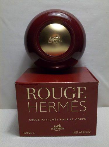 Rouge HERMES Perfumed Body Cream 6.5 oz Glass Jar HERMES Trinket Box