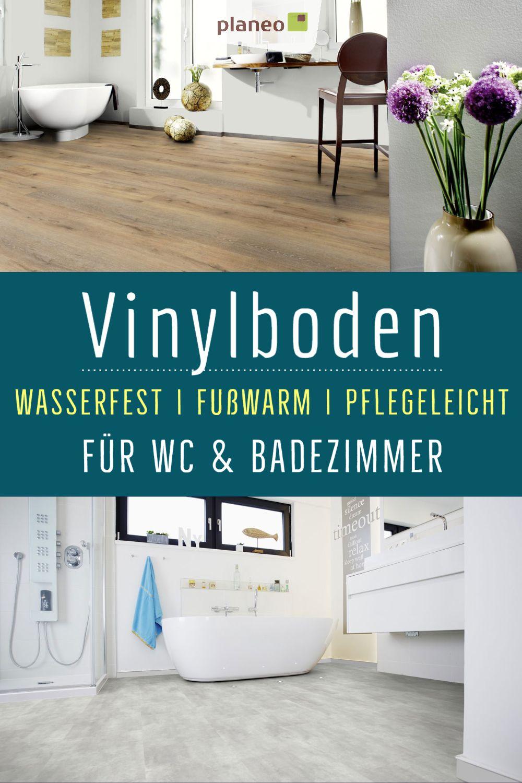 Vinylboden Fur Badezimmer Wasserfest Wie Fliesen Aber Fusswarm Geprufte Qualitat In 2020 Vinylboden Kleines Bad Dekorieren Kleines Bad Fliesen
