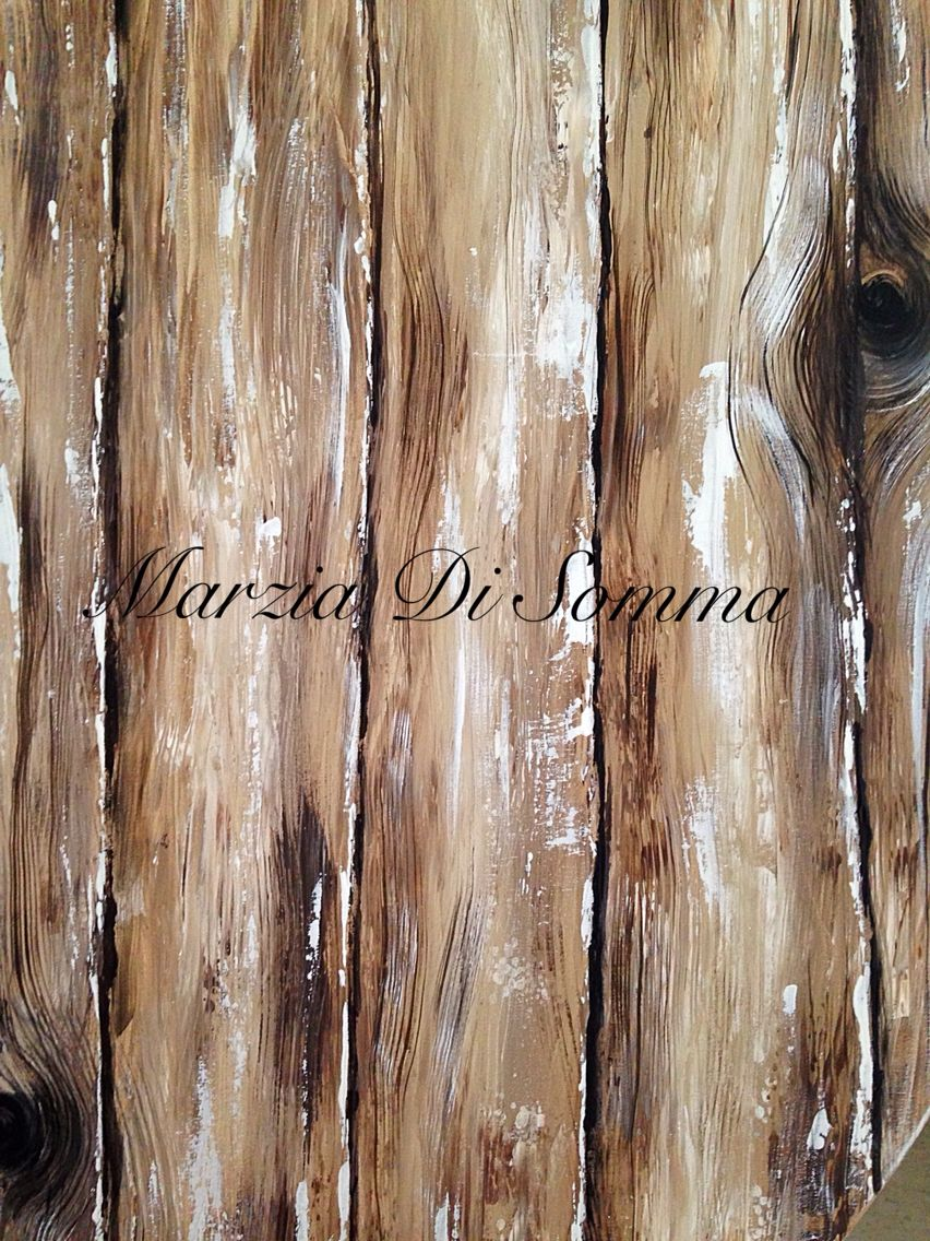 Wood effect all is paint on canvas Di Marzia Di Somma