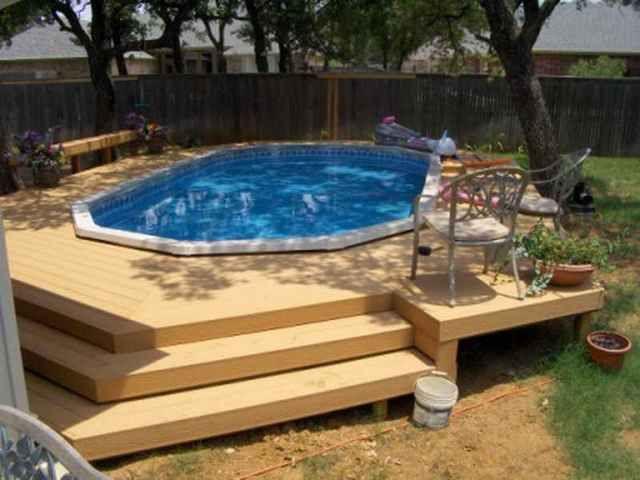 Above Ground Pools Decks Idea Above Ground Pool With Deck Ideas - Backyard above ground pool ideas