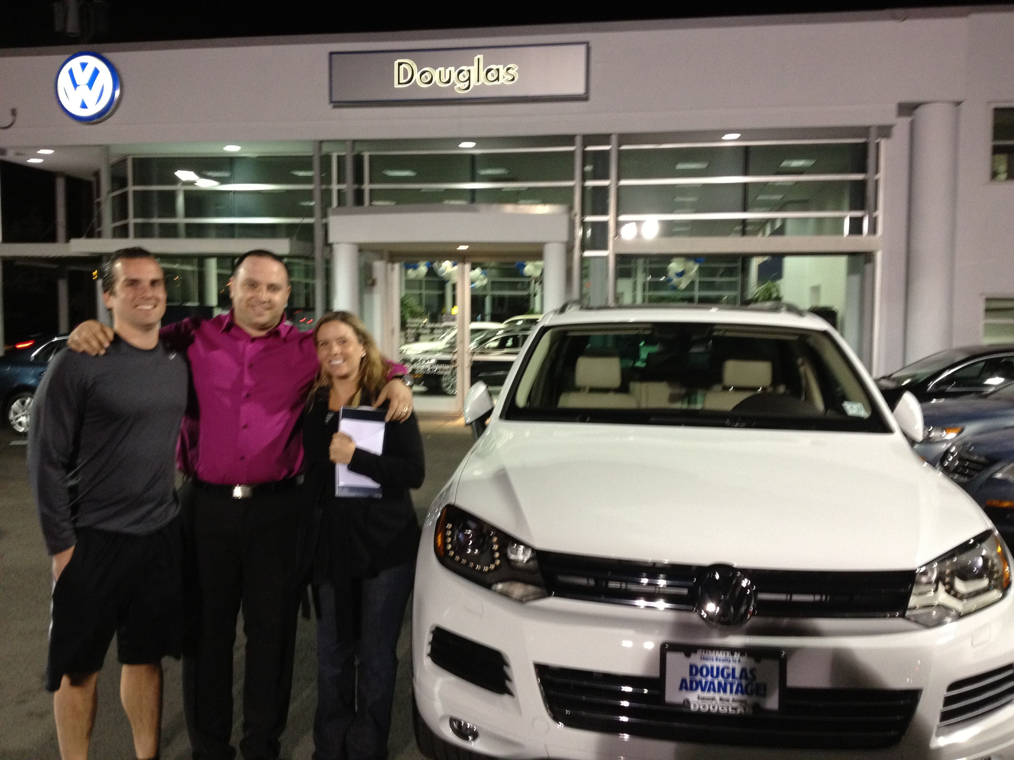 Melissa and Jason Schlow from Summit, NJ picking up their