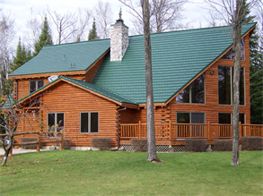 Best House With Green Metal Roof Rustic Shingle Color Forest 640 x 480