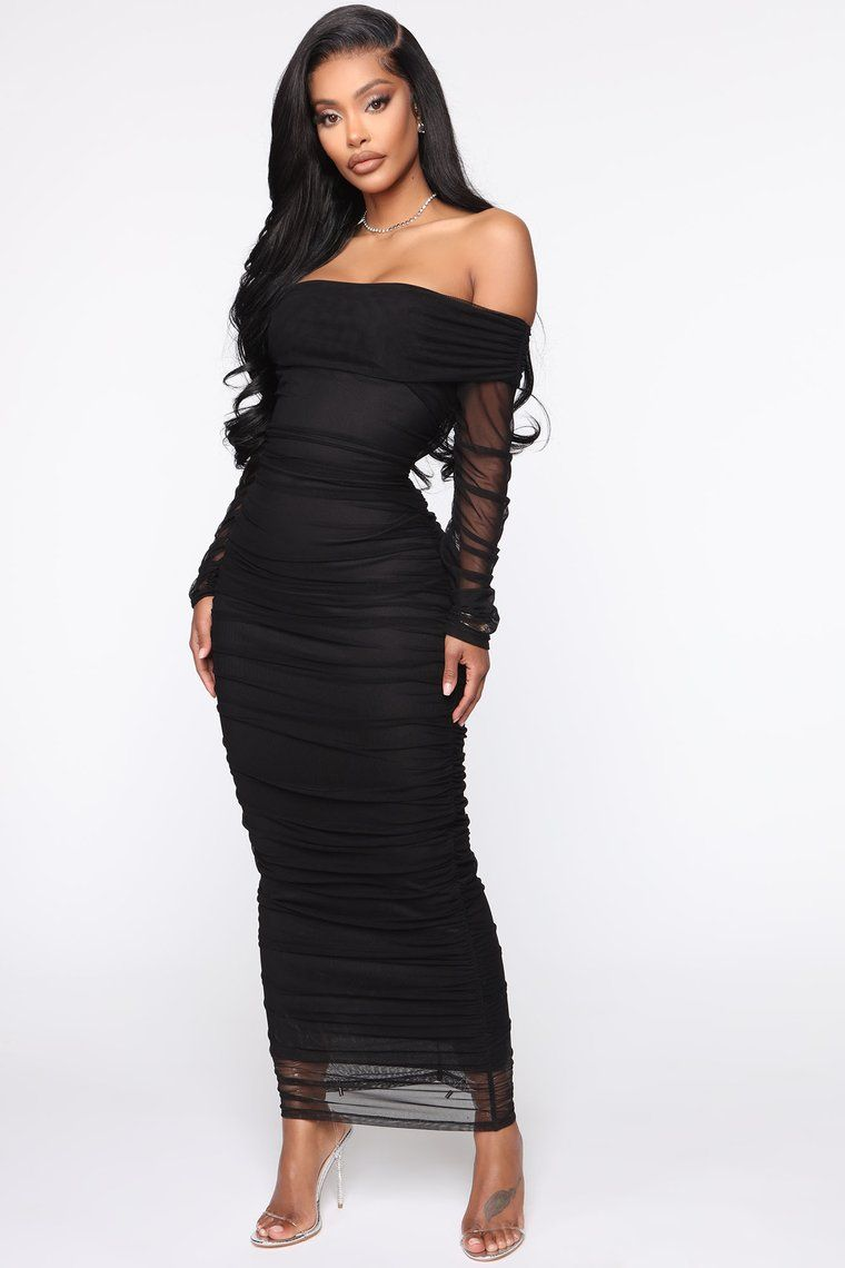 Top Trend Ruched Maxi Dress Black In 2021 Ruched Maxi Dress Black Dresses Classy Black Maxi Dress