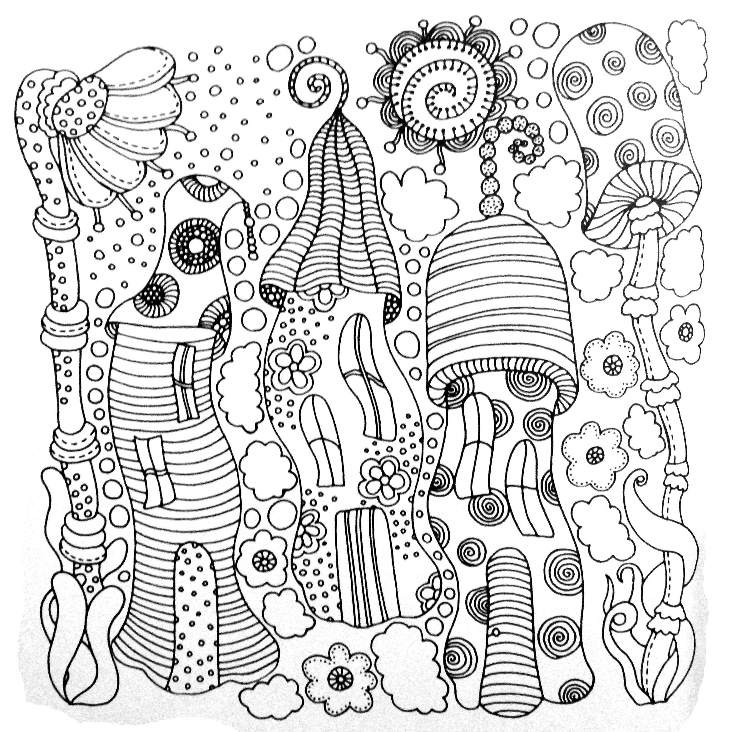 Colors of Nature Adult Colouring Book - Fairy Houses ...
