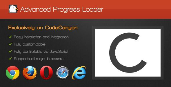 Advanced Progress Loader Website template, Coding, Web