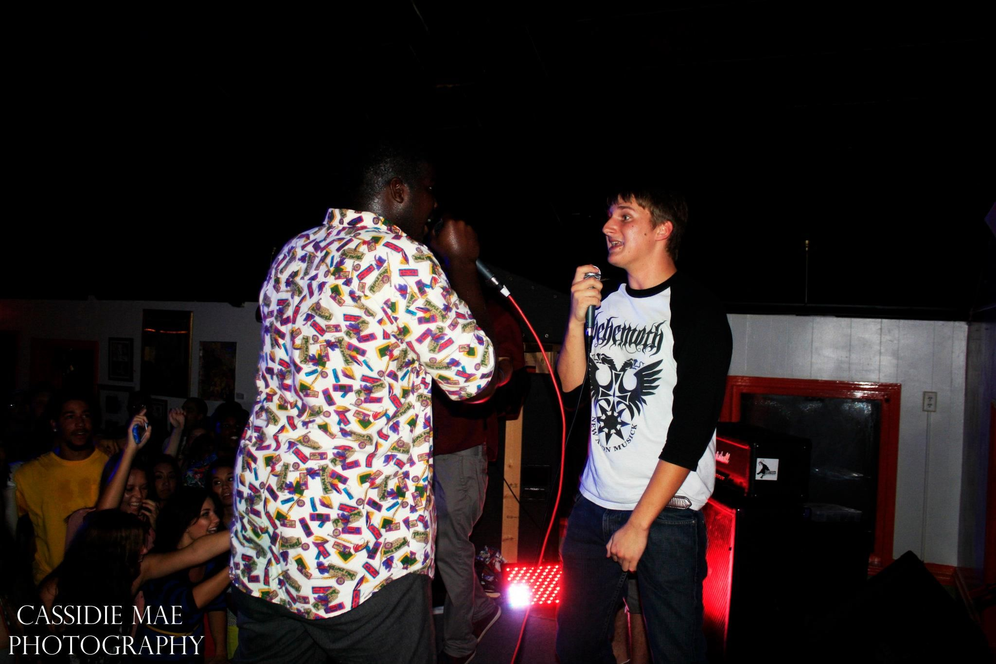 The Marcens rapping at Blak Tha Map's Birthday Party