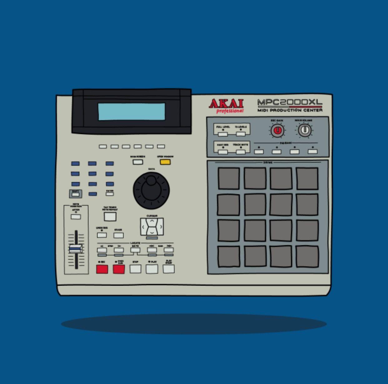 Akai Mpc 2000xl Music Artwork Music Production Equipment Music Album Covers