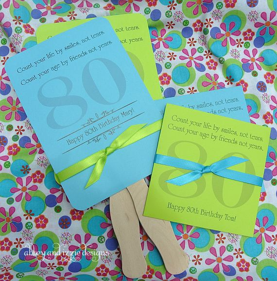 Adult Birthday Favors 80th By Abbeyandizziedesigns