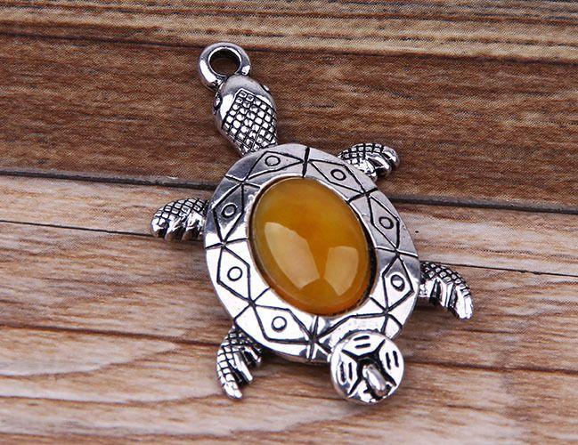 DIY new resin turtle style tibet silver pendant j2859 #Handmade #Pendant