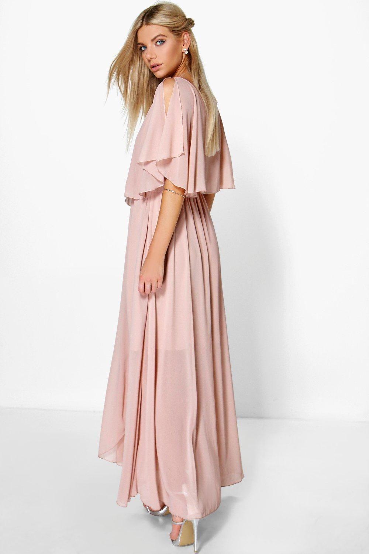 Claudia Chiffon Double Layer Wrap Maxi Dress